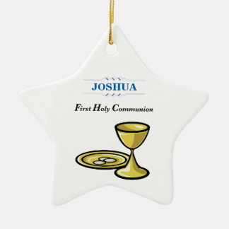 Customize, First Communion Body and Blood Ceramic Ornament