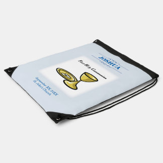 Customize, First Communion Body and Blood Drawstring Bag