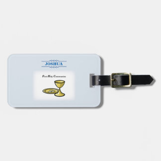 Customize, First Communion Body and Blood Luggage Tag
