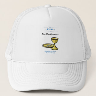 Customize, First Communion Body and Blood Trucker Hat