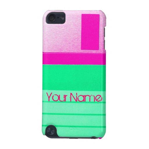 Customize Floppy Disc Personalize Retro iPod Touch 5G Covers