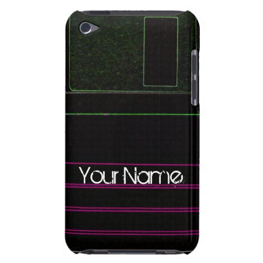 Customize Floppy Disc Personalize Retro Barely There iPod Cases