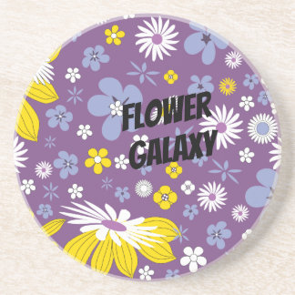 Customize Flower Galaxy Coaster