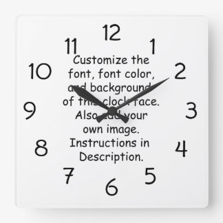 Customize Font, Font Color, Background, Image Wallclocks