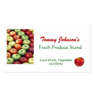 Customize Fresh Produce Vegetable Fruit Market Pack Of Standard Business Cards