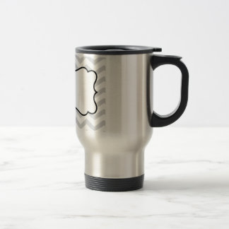 Customize Gray And White Chevron Design Mugs