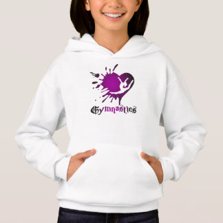 Customize Heart Splat Gymnastics Shirt Hoodie