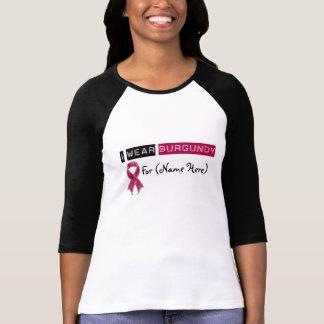 Customize I Wear Burgundy Ribbon Multiple Myeloma Tee Shirts