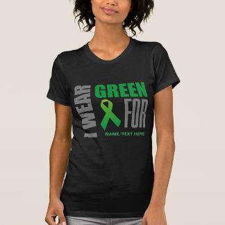 Customize I wear green awareness ribbon Tshirts