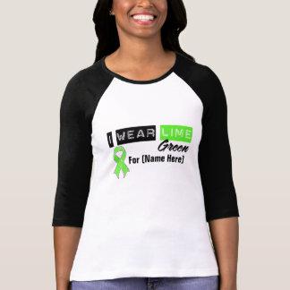 Customize I Wear Lime Green Ribbon Lymphoma T-shirts
