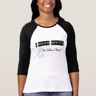 Customize I Wear White Ribbon Retinoblastoma Shirt