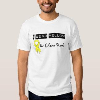Customize I Wear Yellow Ribbon Bladder Cancer Shirts