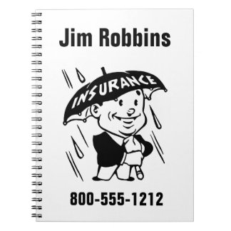 Customize Insurance Agent or Agency 2 Side Notebooks