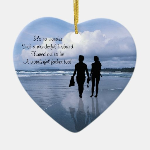 Customize It!  Husband & Wife Fathers Day Ornament