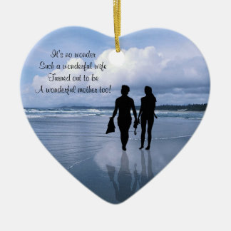 Customize It!  Husband & Wife Mothers Day Ornament