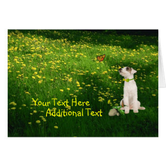 Customize It!   Jack Russell Puppy Easter Card