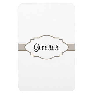 Customize It! Nameplate Rectangular Photo Magnet