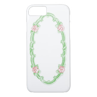 * Customize It! * Vintage Floral Oval Frame iPhone 7 Case