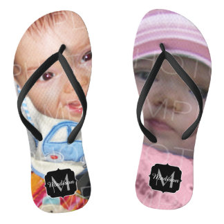 Customize it with Your photos Monogram Thongs
