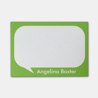 Customize lime green and white Talk Bubble Post-it Notes