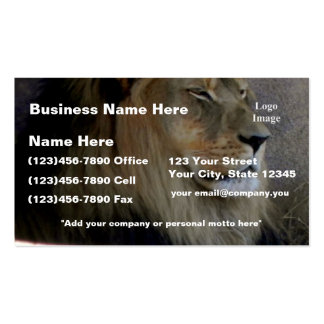 (Customize) Lion - King of the Beast Double-Sided Standard Business Cards (Pack Of 100)