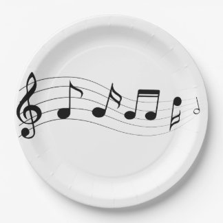 Customize Musical Notes Party Plate
