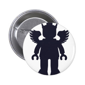 Customize My Minifig Winged Greek God Pinback Buttons