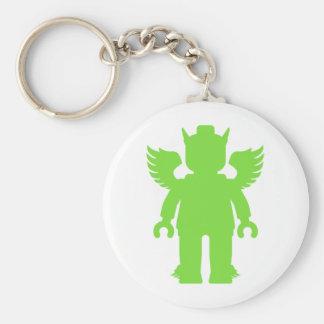 Customize My Minifig Winged Greek God Basic Round Button Key Ring