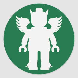 Customize My Minifig Winged Greek God Round Sticker