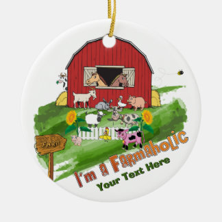 CUSTOMIZE - Online Farming Farmaholic Ornament