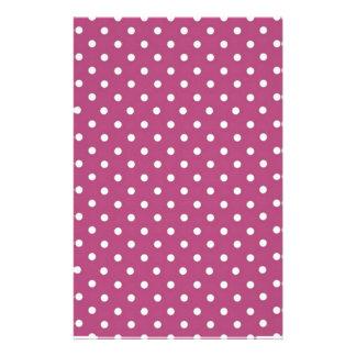 Customize Pink Polka Dot Custom Stationery