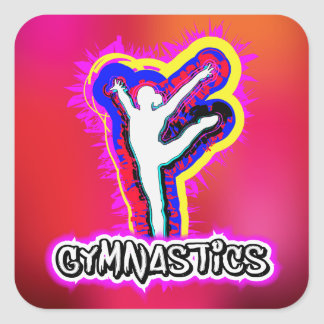 Customize Product Girl Gymnastics Stickers Gift