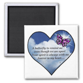 Customize Product Memorial Butterfly Poem Magnets