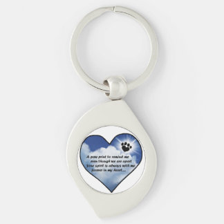 Customize Product Silver-Colored Swirl Key Ring