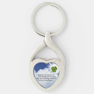 Customize Product Silver-Colored Twisted Heart Key Ring
