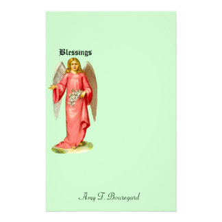 Customize Product - Victorian Angel Blessings Custom Stationery