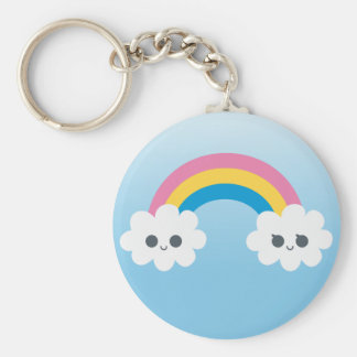 Customize PTwo Cute Happy Rainbow Cloudsroduct Keychains