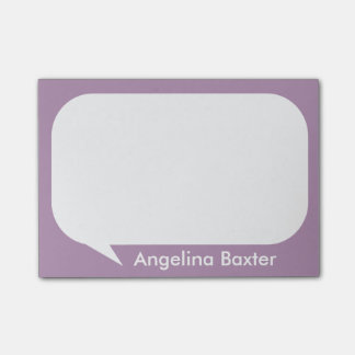 Customize purple and white Talk Bubble Post-it® Notes