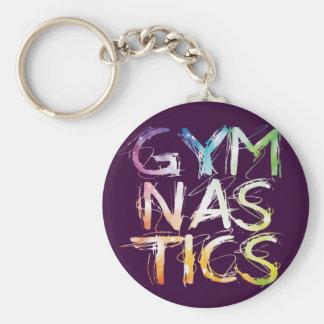 Customize Purple Gymnastics Starburst Key Ring