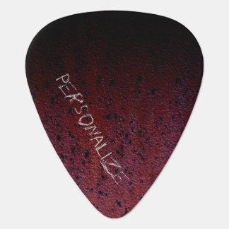 Customize Red Brown Black Ombre Rust Metal Patina Guitar Pick
