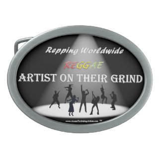 Customize REGGAE Artist On Their Grind Belt Buckle