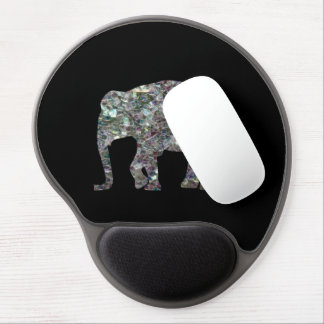 Customize Sparkly colourful silver mosaic Elephant Gel Mouse Pad