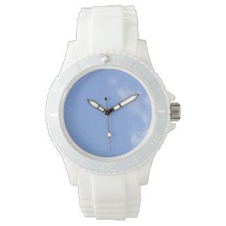 customize sporty white silicon women's watch
