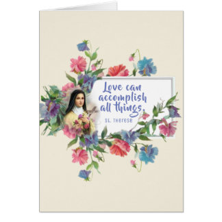 Customize St. Therese Valentine's Day Card