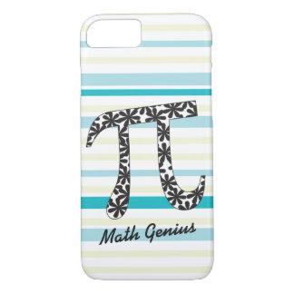 Customize Striped Math Floral Pi iPhone 8/7 Case