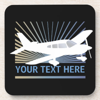 Customize Text - Low Wing Airplane Coaster