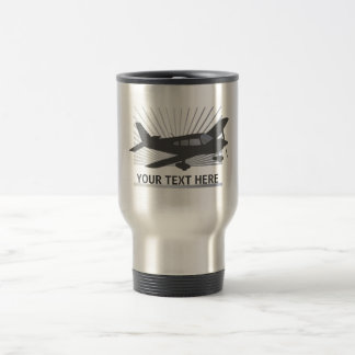 Customize Text - Low Wing Airplane Mugs