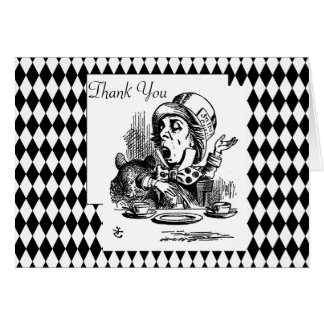 Customize Thank You Mad Hatter Card