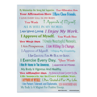 Customize this Affirmation Poster