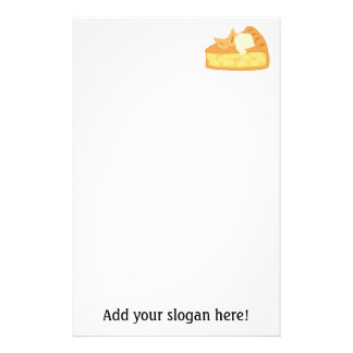 Customize this Apple Pie Slice graphic Customised Stationery